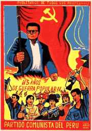 Poster issued in 1985 as part of party assessment of its People's War