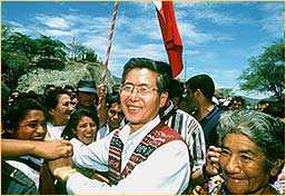 Alejandro Toledo campaigning in Arequipa, April 2001