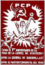Sendero poster from Ayacucho about a 1982 jailbreak