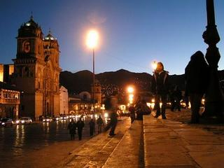 Photo of Cusco cathedral at night