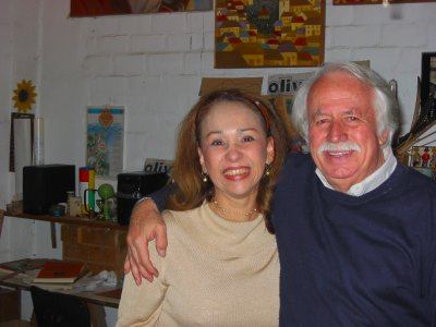 Felix Oliva and my wife, Teresa, Miraflores, October 2002